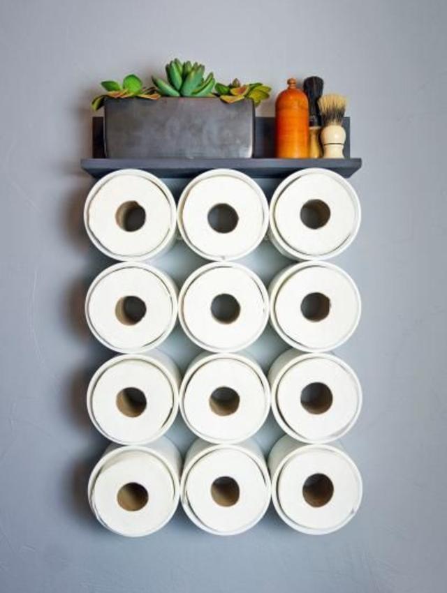 Porta papel higiênico de cano de PVC