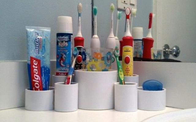Potes para banheiro feitos com cano PVC