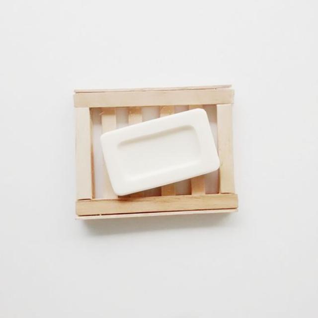 Porta sabonete feito com palito de picolé