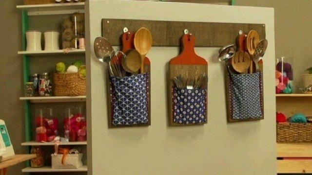 Decoração para cozinha com tábuas de madeira
