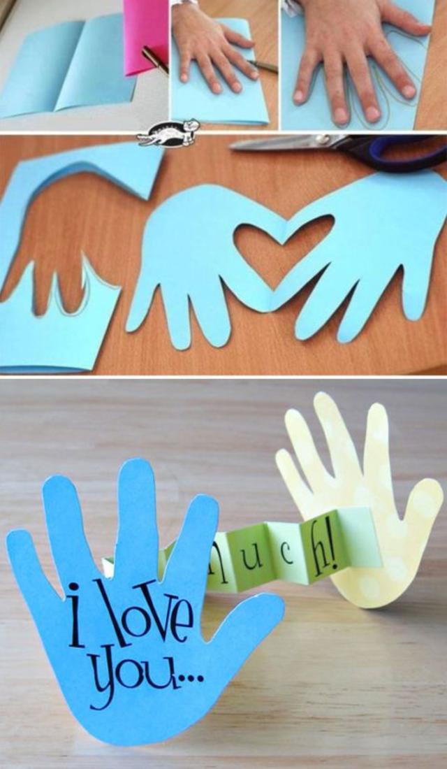 Cartão personalizado com mensagem para o dia dos pais