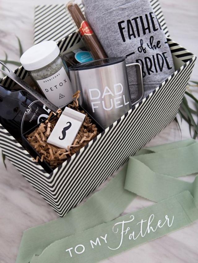 Caixa com presentes para o dia dos pais