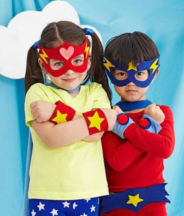 Máscaras de super-heróis de EVA