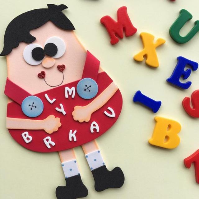 Brinquedo educativo de EVA