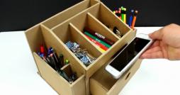 Artesanato com Papelão: Como Fazer um Organizador de Mesa Super Prático