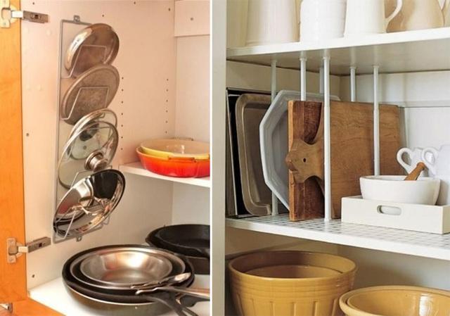 Organizadores e divisórias para armário de cozinha