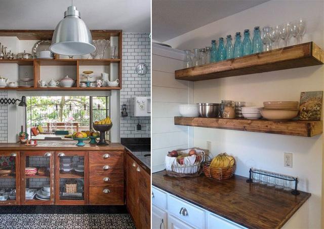 Armários e prateleiras de cozinha