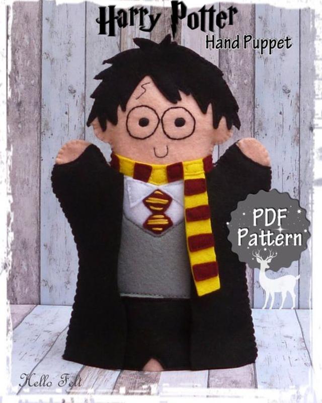 Fantoche do Harry Potter de feltro