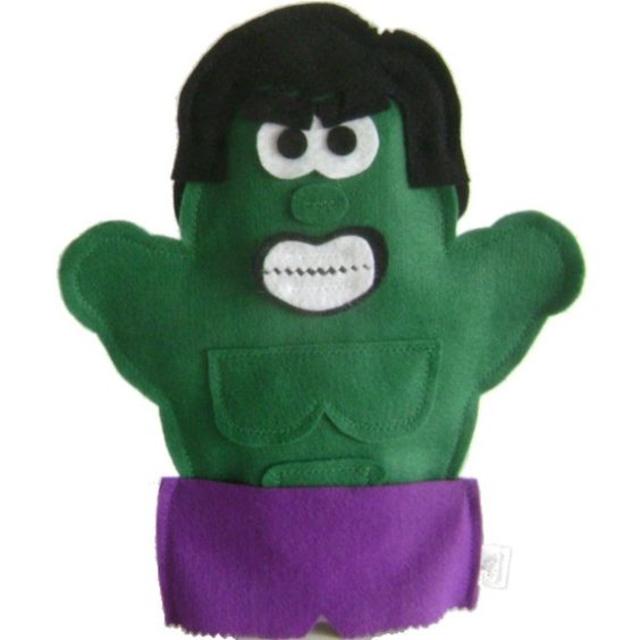 Fantoche do Hulk de feltro