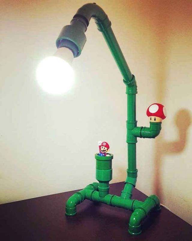 Luminária de PVC do Super Mario
