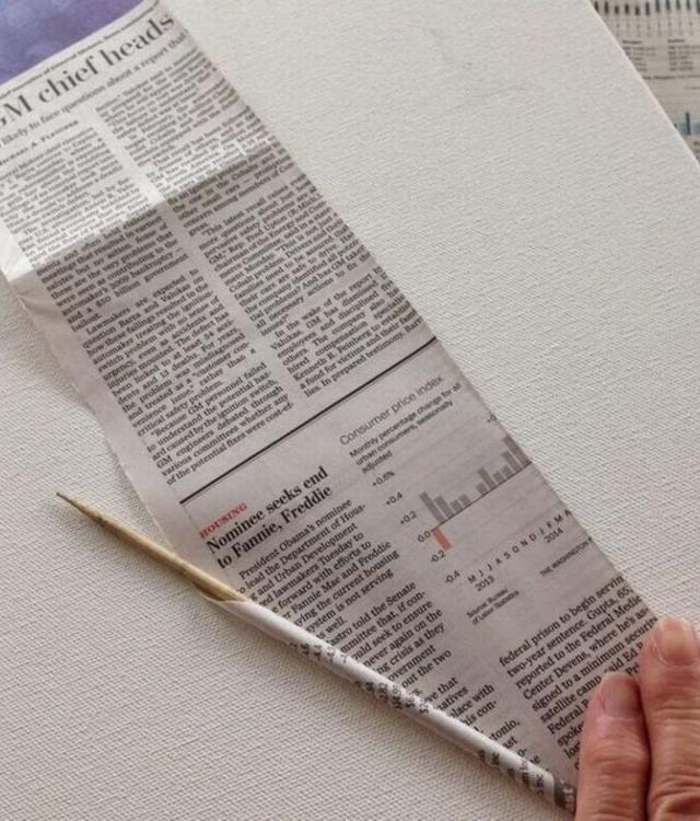 Passo a passo cesta de jornal