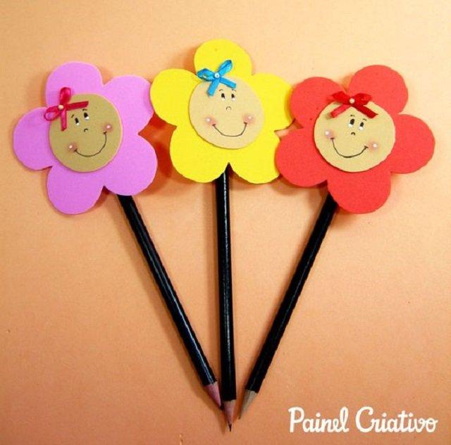 Ponteiras de lápis em EVA