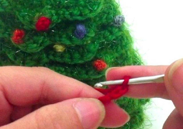 Passo a passo árvore de Natal de crochê