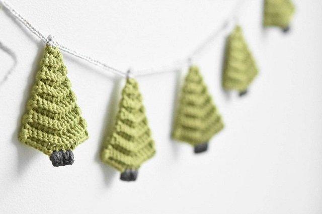 Árvores de Natal de crochê