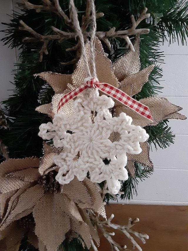 Floco de neve de crochê