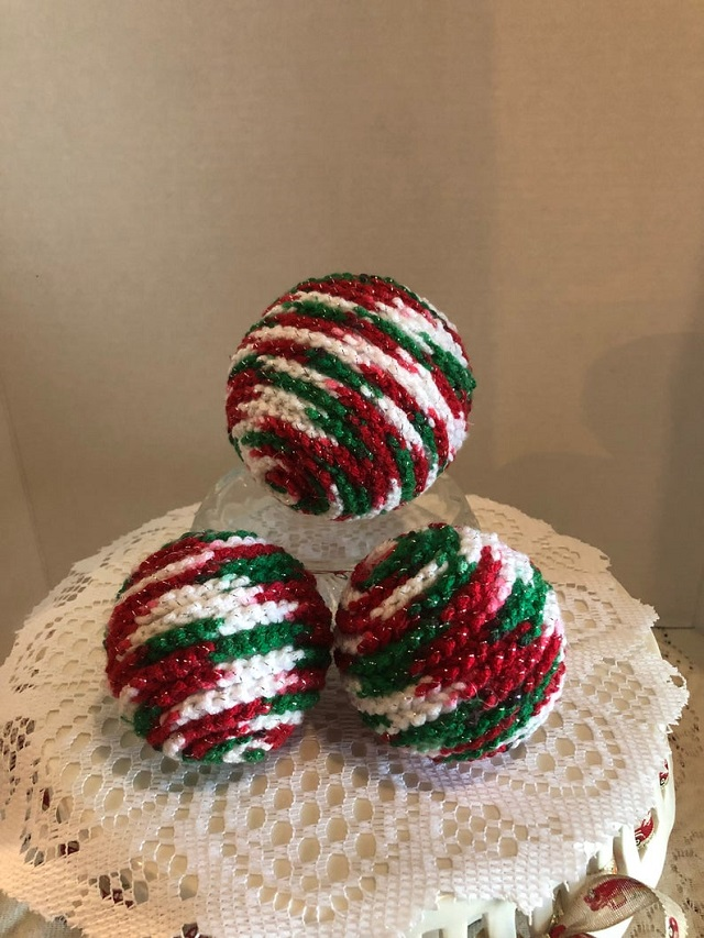 Bola de Natal de crochê