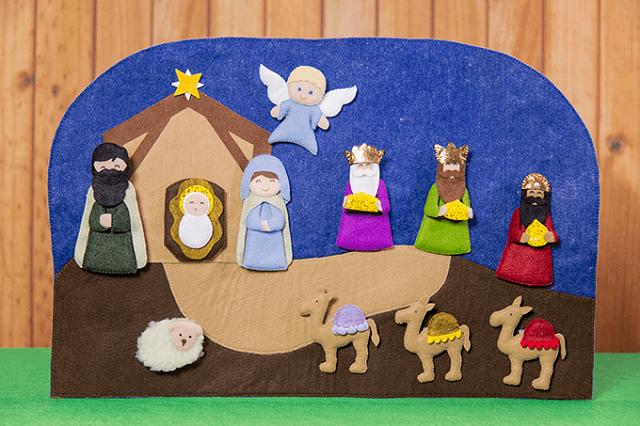 Presépio de Natal de feltro