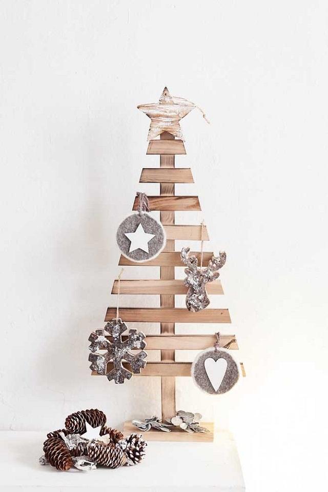 Árvore de Natal de parede de madeira