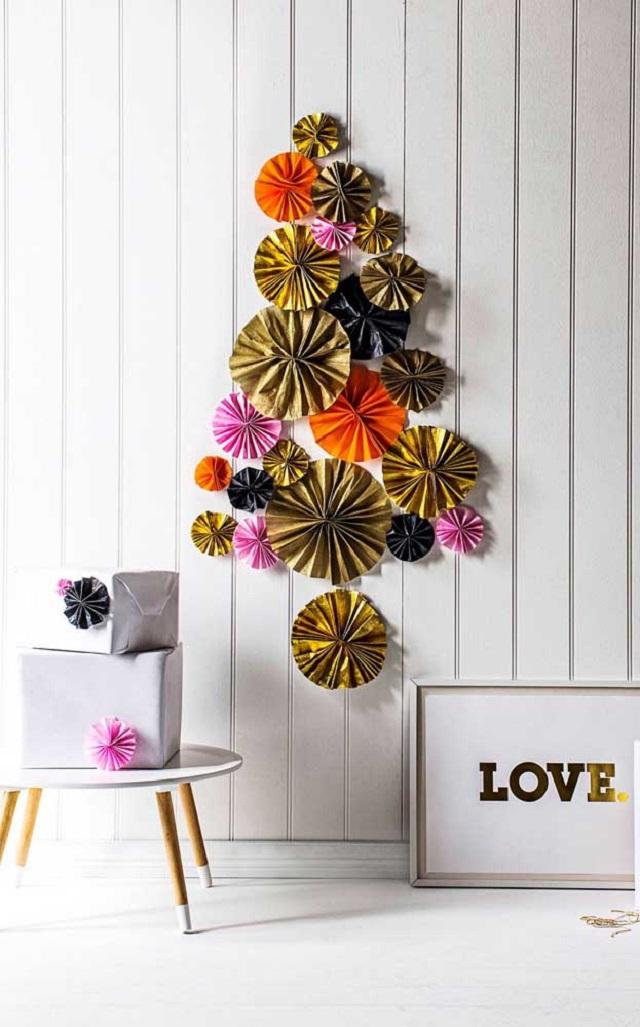 Árvore de Natal de parede de papel