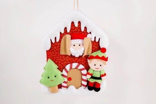 Enfeite de Natal de feltro