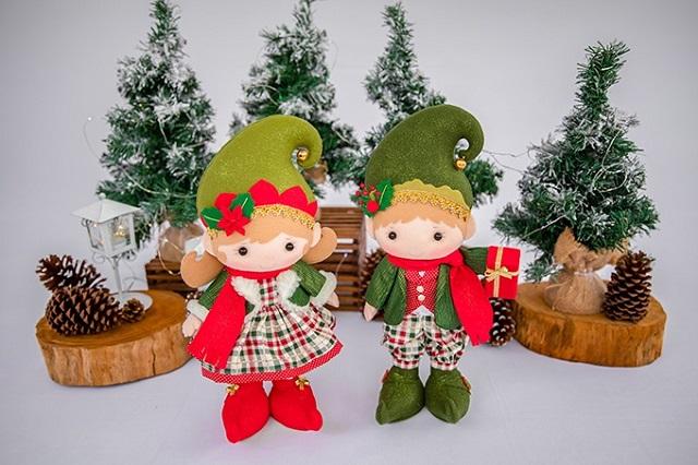 Bonecos de Natal de feltro