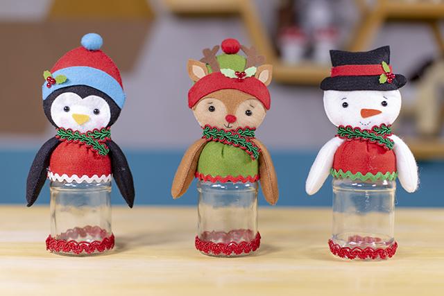 Potes de Natal de feltro