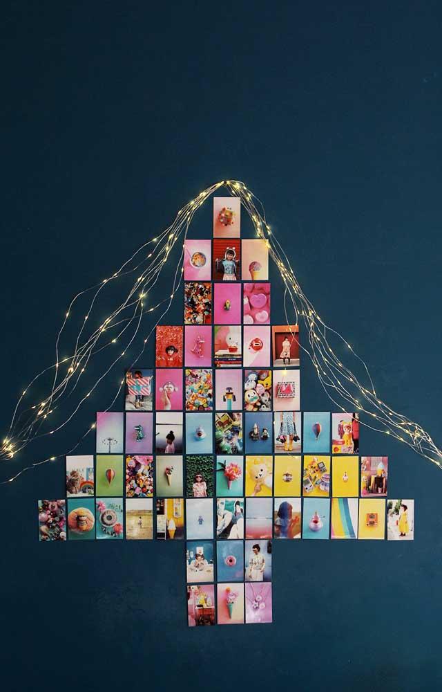 Árvore de Natal de parede de fotos