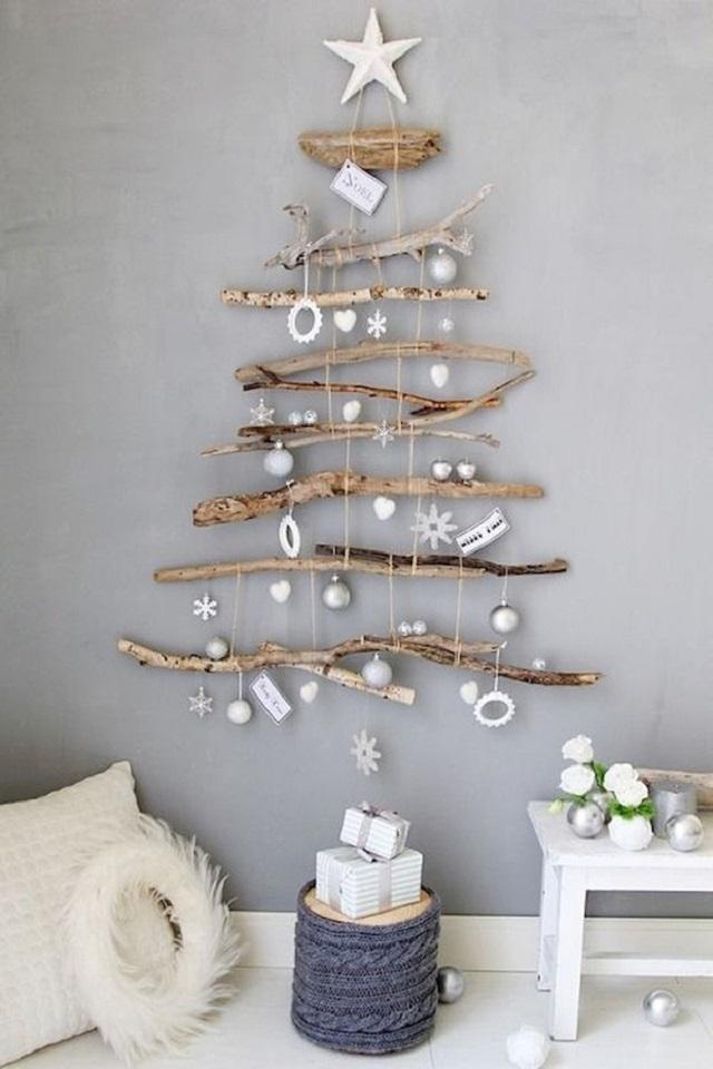 Árvore de Natal de parede com galhos