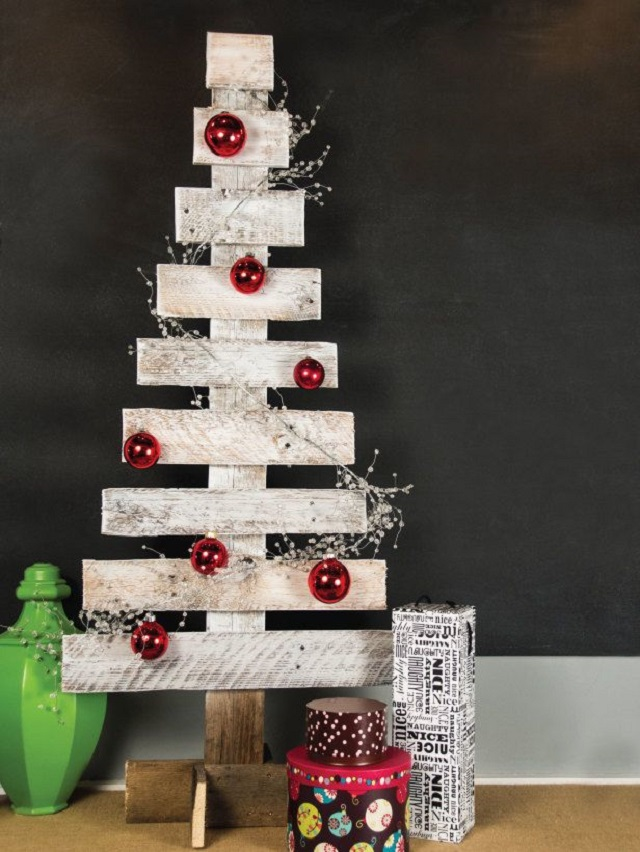 Árvore de Natal de parede rústica