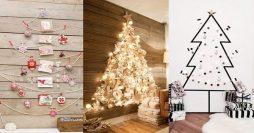 Árvore de Natal de Parede: 7 Estilos Lindos e Fáceis de Fazer