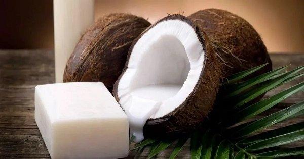 Sabão de coco caseiro