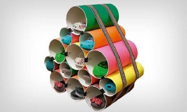Sapateira de cano de PVC