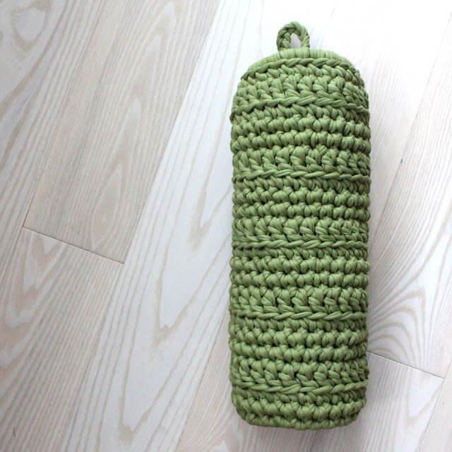 Puxa saco de crochê básico