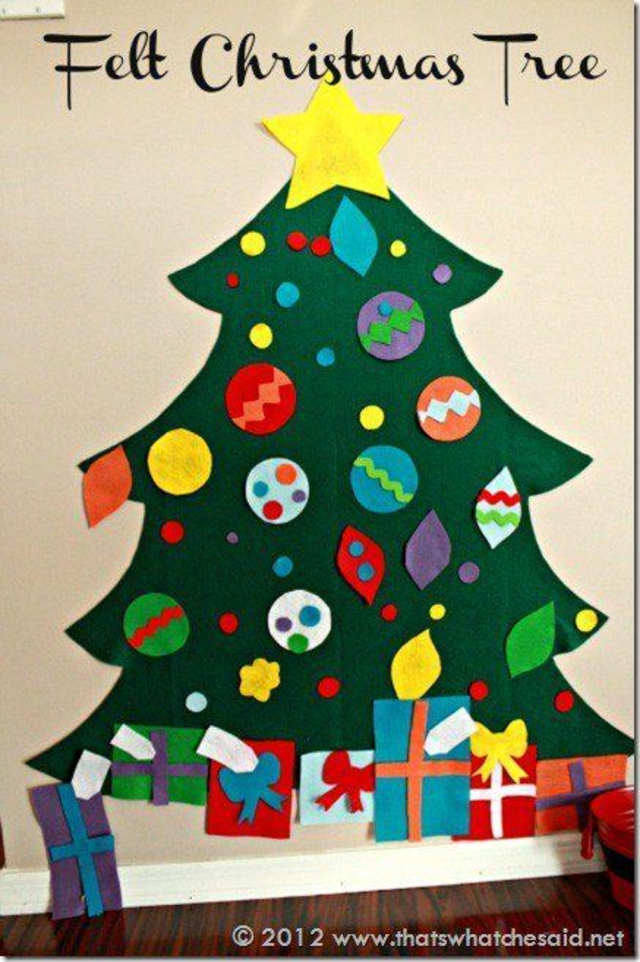árvore de natal artesanal de feltro