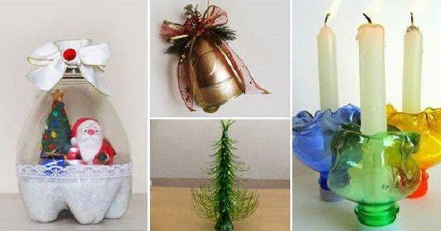 Artesanatos de Natal de garrafa pet
