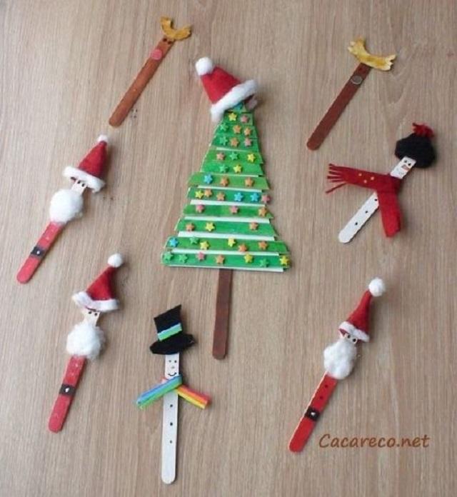 Artesanato de Natal com palito de picolé