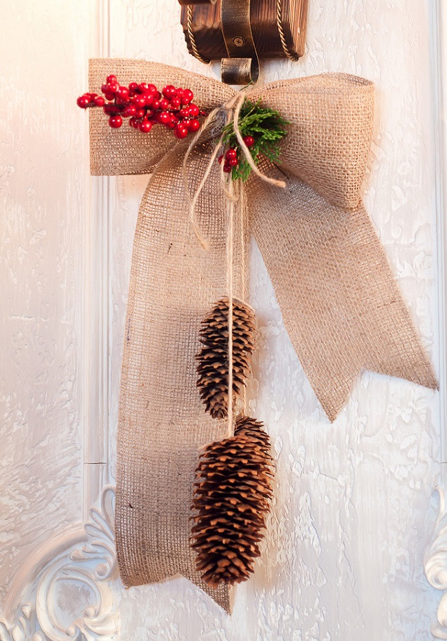 Enfeite de Natal de pinha