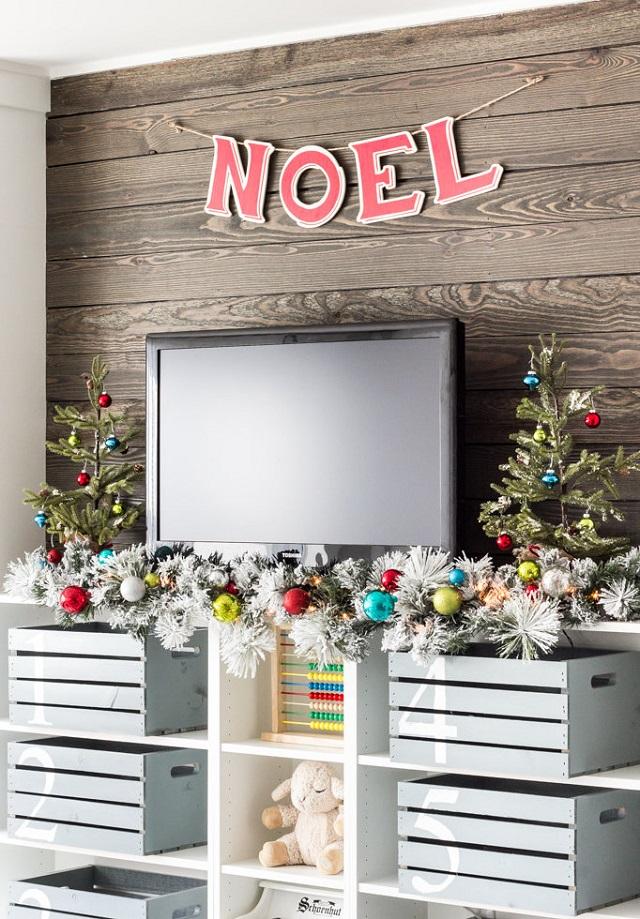 Decoração com bolas de Natal