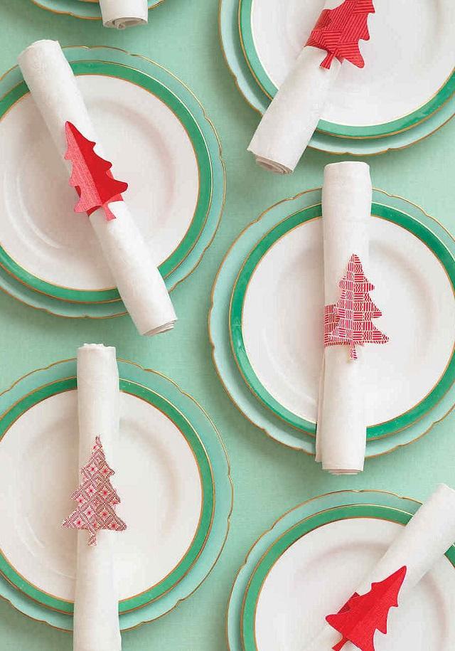 Decoração de Natal com tecido