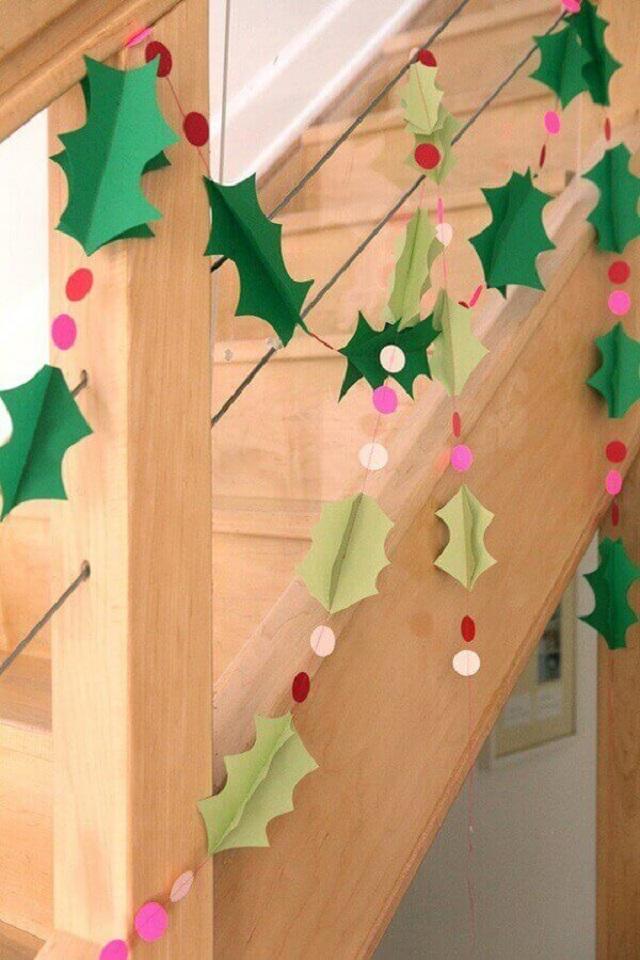 Decoração de Natal com papel