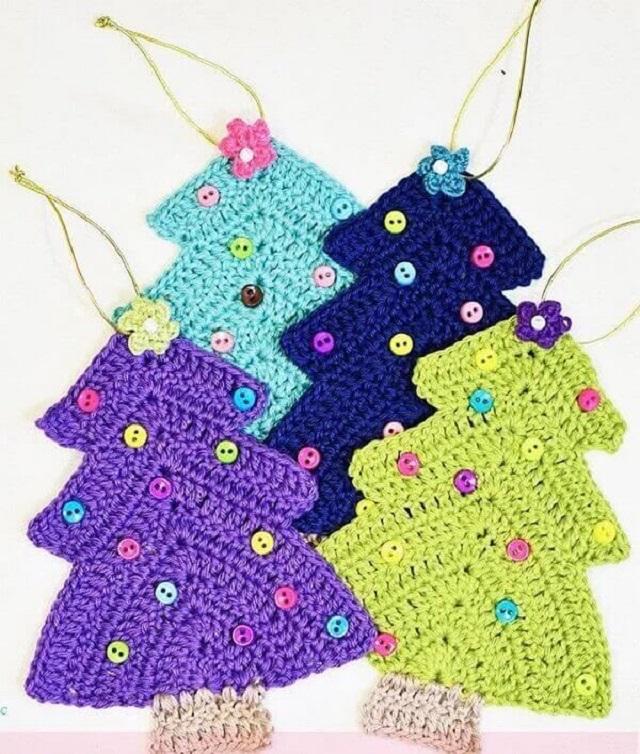 Decoração de Natal com crochê