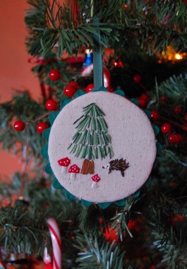 Decoração de Natal de bordado