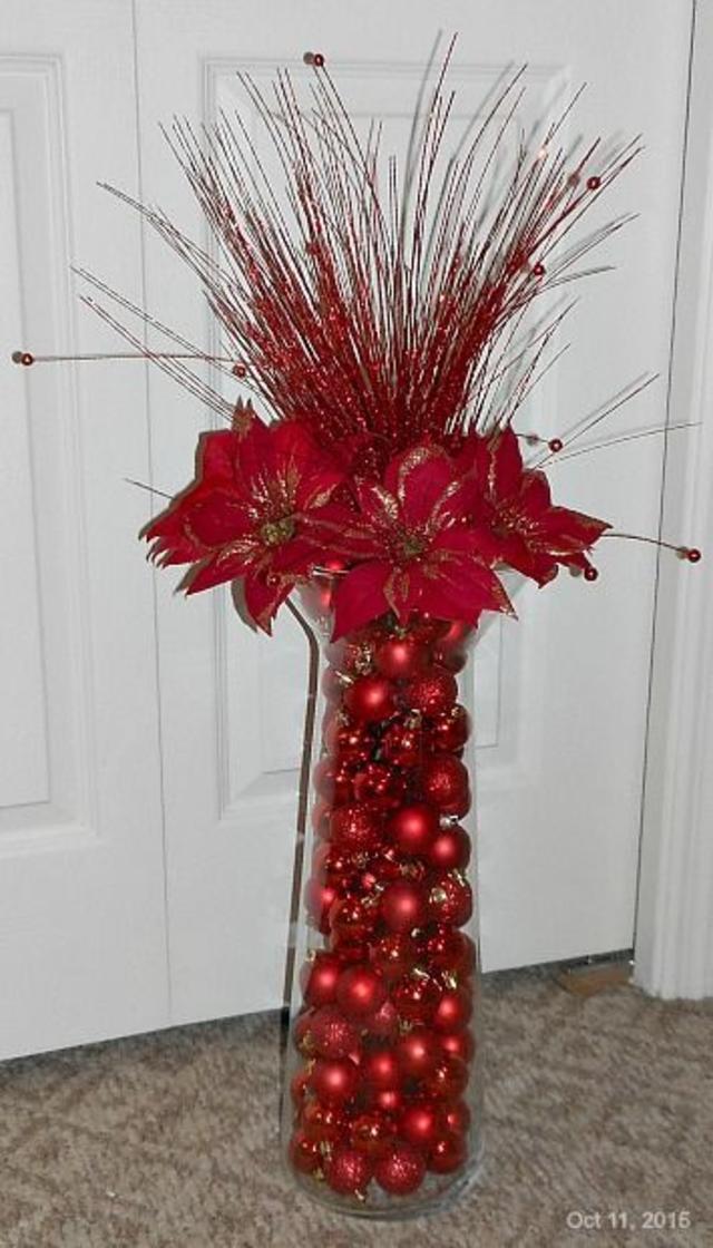 Enfeite de mesa de Natal vermelho