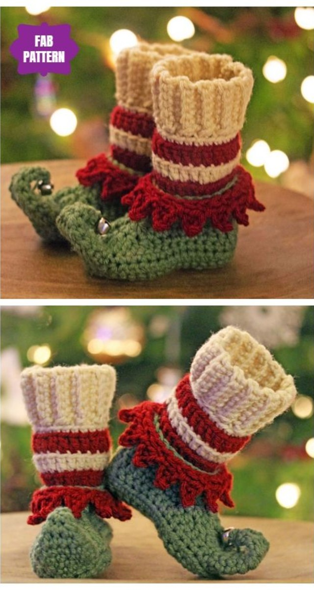 Botas de Natal de crochê