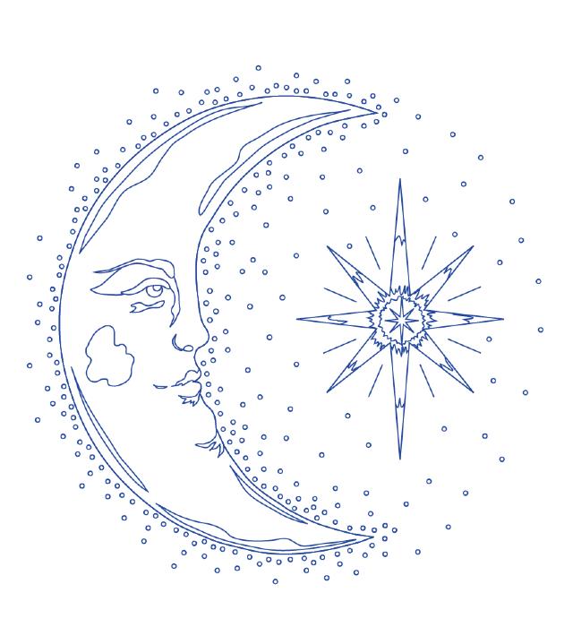 desenho para bordado lua