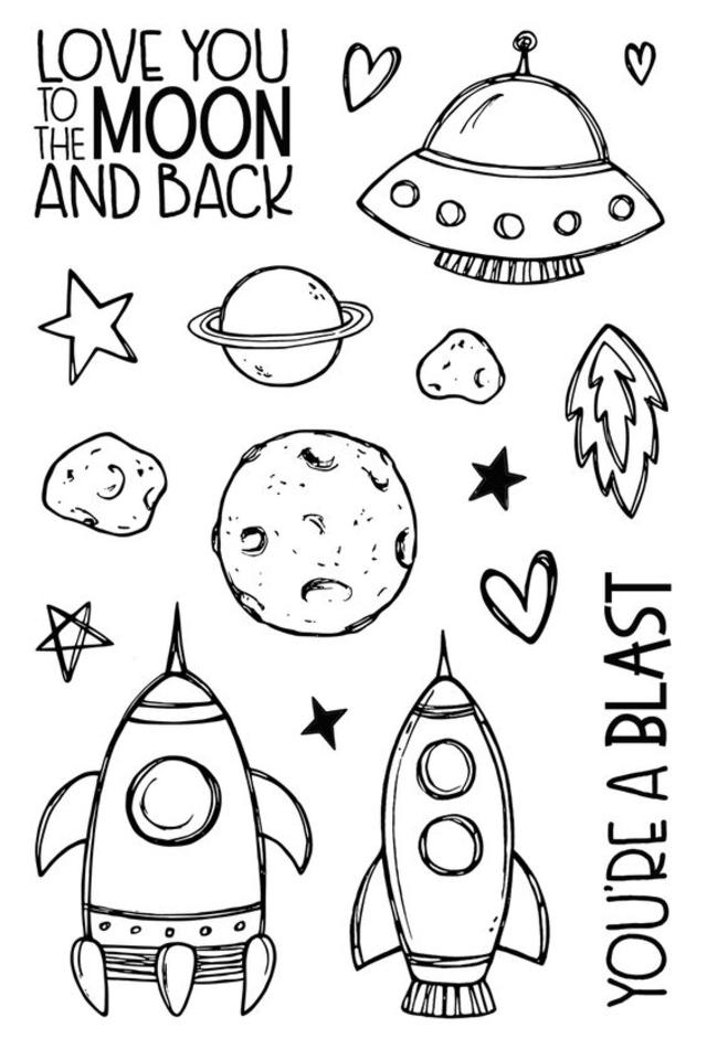 desenhos para bordado planetas