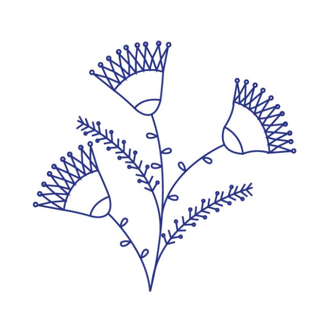 desenho para bordadoflores