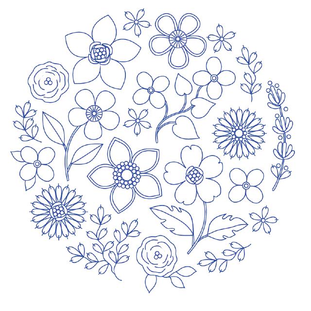 desenho para bordado flores