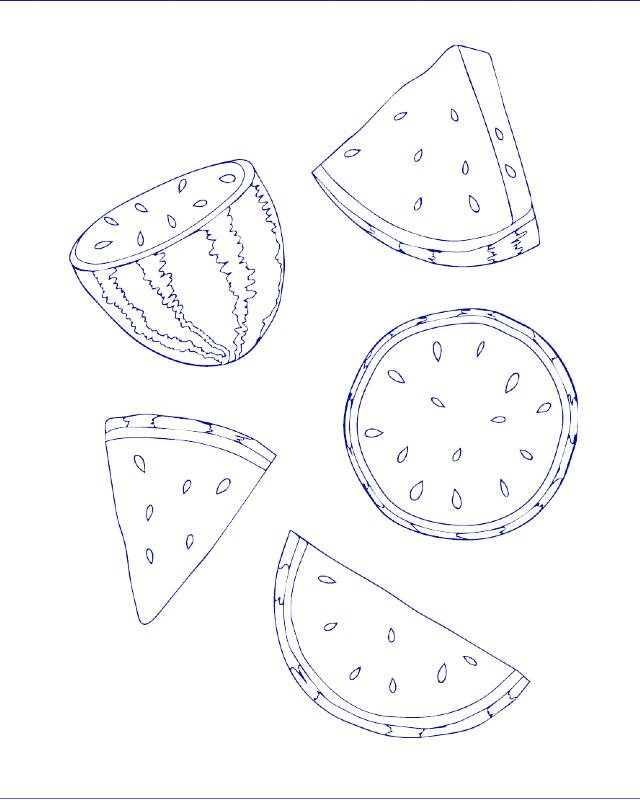 desenho para bordado melancia