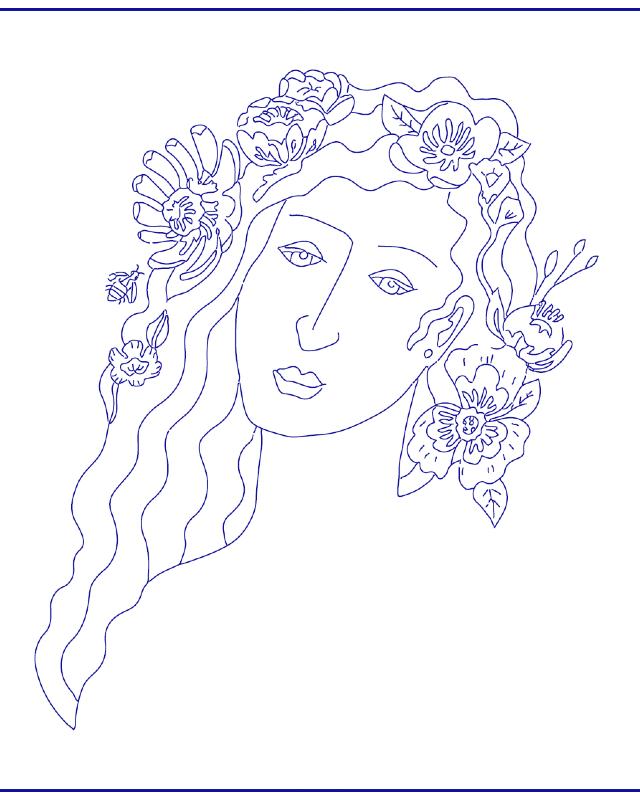 desenho para bordado menina